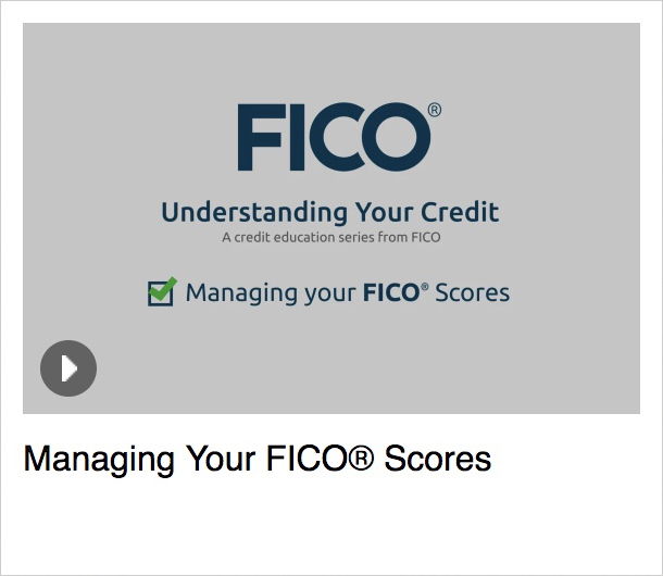 Managing Your FICO<sup>®</sup> Scores