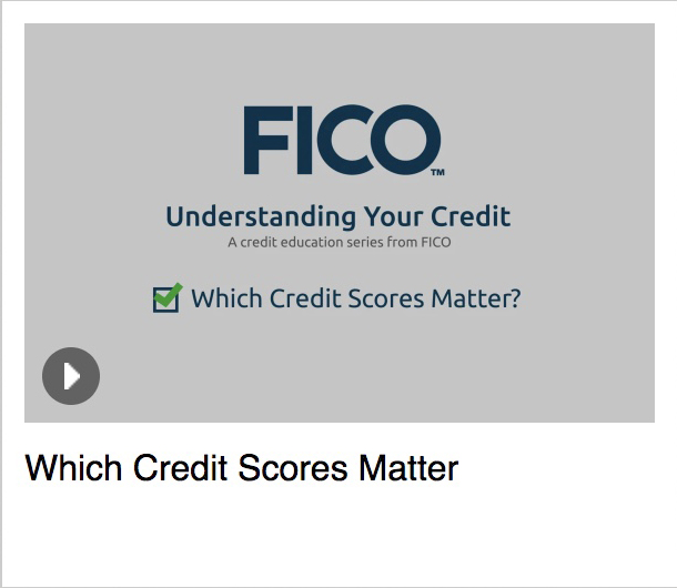 FICO<sup>®</sup> Which Credit Scores Matter